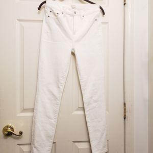 J. Crew White Stretch Skinny Jeans Size 26